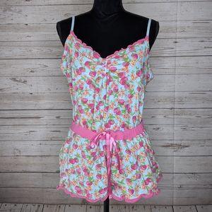Betsey Johnson Betseyville Strawberry Pajama Set
